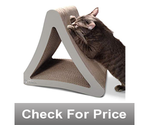 3-Sided Vertical Cat Scratching Pos,Color: Warm Gray,Made of recycled cardboard, non-toxic corn starch glue