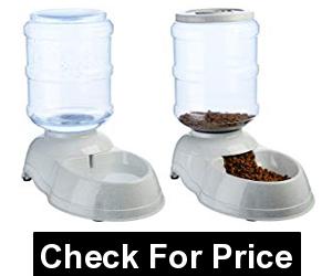 AmazonBasics Self-Dispensing Gravity Pet Feeder and Waterer