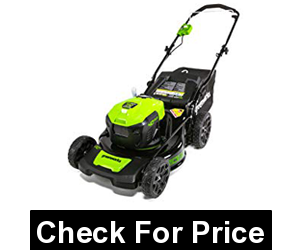 GreenWorks MO40L2512 Electric Lawn Mower, 40V Lithium Batteries,Cutting Heights: 7 Position