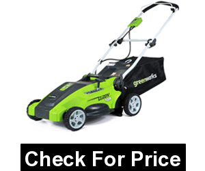 Greenworks 16-Inch 10 Amp Corded Electric Lawn Mower 25142,Weight: 48.0 Pounds,5 position height adjustment