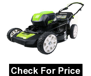 Greenworks Pro 80V 21-Inch Cordless Lawn Mower,Up to 60 minutes of run time with fully charged 4.0AH battery,21-inch steel deck
