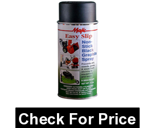 Non-Stick Lawn Mower Underdeck Spray, Aerosol, Black