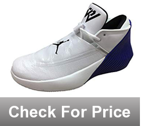 Nike Men's Jordan Why Not Zero.1 Low Synthetic Basketball Shoes,Color: White/Black/Midnight/Russell Westbrook, Internal laces with front toggle lock your foot into place.