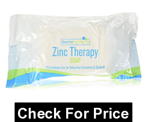 Zinc (ZnP) Bar Soap 4 oz,2% Pyrithione Zinc (ZNP),Fragrance Free with Natural Ingredients Soap