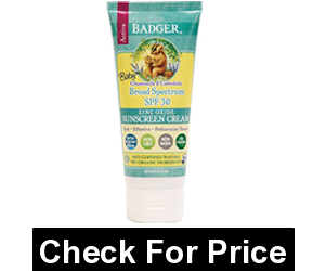 Badger - Baby Sunscreen Cream Broad Spectrum SPF 30 Protection, Chamomile and Calendula Formula - 2.9 Ounce Tube