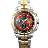 "Bradford Exchange ""for My Firefighter"" Men's Chronograph Watch"