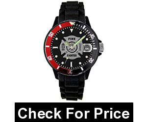 Firefighter Sports Watch 30m Water Resistant,plastic casing and silicone strap,2 year manufacturer's warranty included