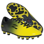 Black and Yellow Soccer Cleat