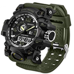 Dual-Display Waterproof Military Watch