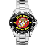 Gift for US Marine Corps Veteran Military Soldier Watch
