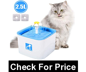 MOSPRO Pet Fountain Cat Water Dispenser,Healthy and Hygienic Drinking Fountain,Automatic Electric Water Bowl with 2 Replacement Filters for Dogs, Cats, Birds and Small Animals Blue