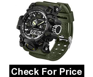 Military Dual-Display Waterproof Sports Digital Watch