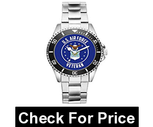 US Air Force Veteran Military Soldier Watch,Price: $74.90,Adjustable Metal Band