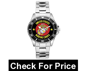 US Marine Corps Veteran Military Soldier Watch,Adjustable Metal Band
