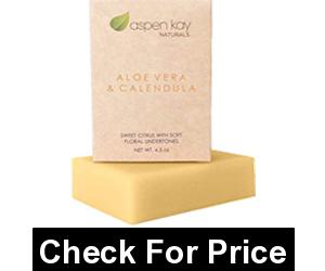 Aloe Vera & Calendula Soap, 100% Natural & Organic, With Organic Aloe Vera, Calendula & Turmeric