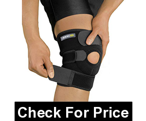 Bracoo Knee Support Open-Patella Brace,Price: $12.99, FULL-CUSTOMIZABLE straps, REINFORCED STABILIZER RING