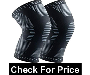 HOPEFORTH Knee Brace Compression Sleeve,Color: Black,PAIN RELIEF and INJURY PREVENTION