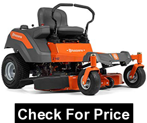 Husqvarna Z142 42 in. 17 HP Kohler Hydrostatic Zero Turn Riding Mower, max speed 6.5 MPH, steel cutting deck