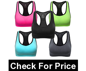 MIRITY Women Racerback Sports Bras, High-support sport bra, Removeable Pads