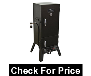 Masterbuilt 2 Door Propane Smoker, Price: $220.49, Stainless steel burner, Push-button ignition