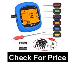 Oprol Bluetooth Digital BBQ Thermometer,6 Stainless Steel Probes ,Support iOS & Android