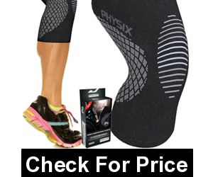 Physix Gear Knee Support Brace,Color: (Single) Black & Pink,PAIN RELIEF, Price: $11.98 - $18.27