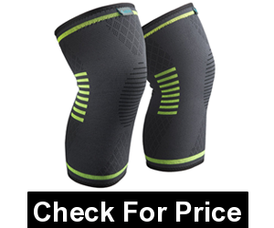 Sable Knee Brace Support Compression Sleeves,Color: Black,Reduces Stress