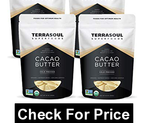 Terrasoul Superfoods Organic Cacao Butter, 1 Lb