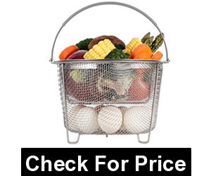Aozita Steamer Basket for Instant Pot, Price: $14.99, 2-tier Stackable Basket