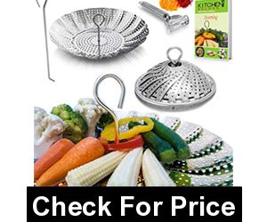 Kitchen Deluxe Premium Vegetable Steamer Basket,Price: $14.95, Easy To Clean & Compact Storage