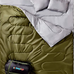 Sleepingo Double Sleeping Bag for Backpacking, Camping