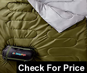 Sleepingo Double Sleeping Bag for Backpacking, Camping, Or Hiking, Queen Size XL, Sleeping Bag for Adults Or Teens. Truck, Tent, Or Sleeping Pad, Lightweight