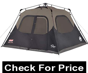Coleman Cabin Tent with Instant Setup, Cabin Tent for Camping Sets Up in 60 Seconds