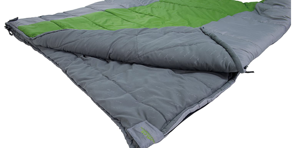 ALPS Mountaineering Twin Peak +20 Double Sleeping Bag, 8 Zippers, Compression Stuff Sack, Two Zippered Pockets
