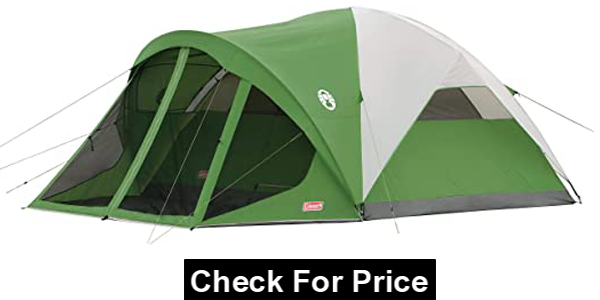 Coleman Dome Tent with Screen Room, Style: 6-person