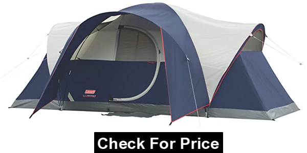 Coleman Elite Montana 8-Person Tent, Style: Lighted Tent, Color: Blue, Person: 8-person