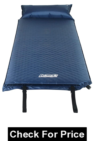 Coleman Self-Inflating Camping Pad with Pillow,extra cushioning on camping trips,Inflated dimensions is 76 x 25 x 2.5 inch