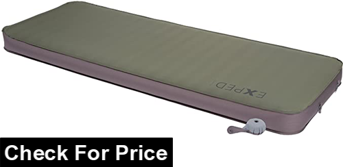 Exped Megamat 10 Insulated Self-Inflating Sleeping Pad, Color: Green (Single), SUMMER / WINTER COMFORT