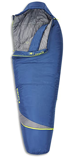 Kelty Tuck 22F Degree Mummy Sleeping Bag, 3 Season Ultralight Sleeping Bag with Thermal Pocket Hood, Zippered Opening in Footbox