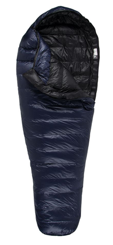 Western Mountaineering MegaLite Sleeping Bag, 30 Degree Down Navy Blue, 6ft 6in/Left Zip