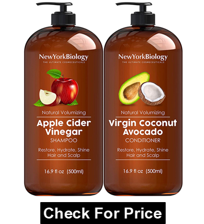 Apple Cider Vinegar Shampoo and Coconut Avocado Oil Conditioner Set - Helps Restore Shine