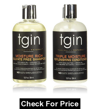 tgin Moisturizing Shampoo & Conditioner For Curly Hair, Natural Hair, Dry Hair
