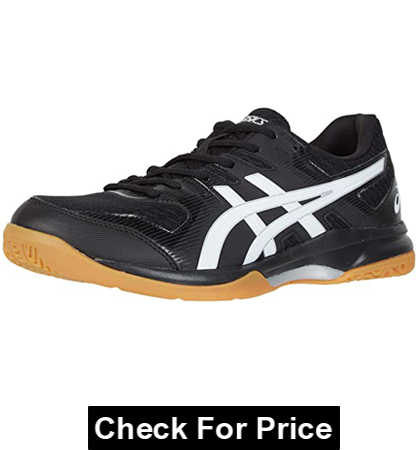 ASICS Men's Gel-Rocket 9 Volleyball Shoes, Color: Black/White, fabric-and-synthetic, best for wide feet