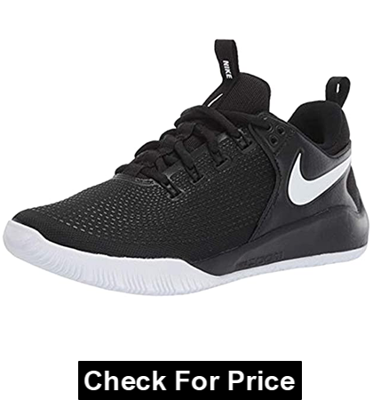 Nike Womens Zoom Hyperace 2 Volleyball Shoe, best volleyball shoes for hitters, Rubber sole, Color: Black/White