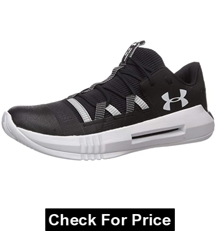 Under Armour Men's Block City 2.0 Volleyball Shoe, Color: Black/White, Rubber sole, Imported, Breathable mesh