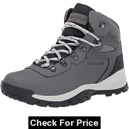 Columbia Women's Newton Ridge Plus Hiking Boot, Color: Quarry/Cool Wave, Imported, Rubber sole, Waterproof Hiking Boot