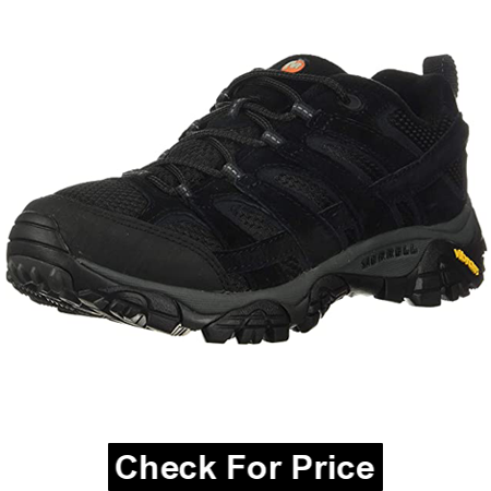Merrell Men's Moab 2 Vent Hiking Shoe, Color: Black Night, 100% suede leather- mesh, Imported, Synthetic sole