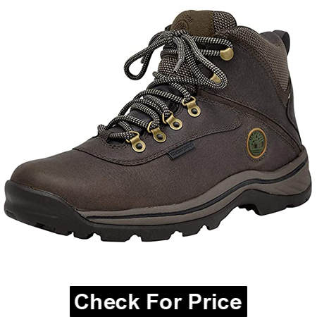Timberland Men's White Ledge Mid Waterproof Ankle Boot, Color: Medium Brown, Rubber sole, Imported, 100% Leather Shoe for Wide Feet