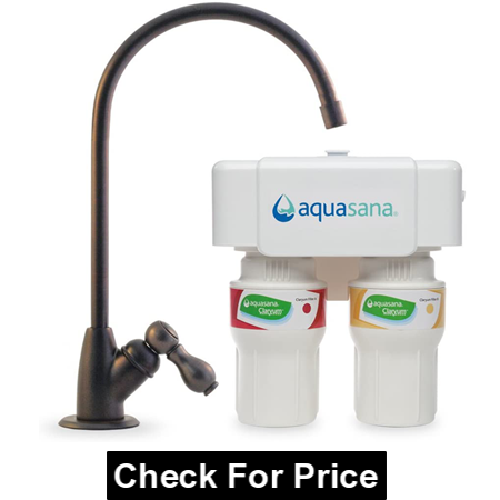 Aquasana AQ-5200.62 2-Stage Under Sink Water Filter System, Including Oil-Rubbed Bronze Faucet