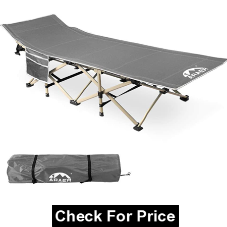 Portable Foldable Outdoor Bed with Carry Bag, HEAVY DUTY & STABLE CAMPING COT
